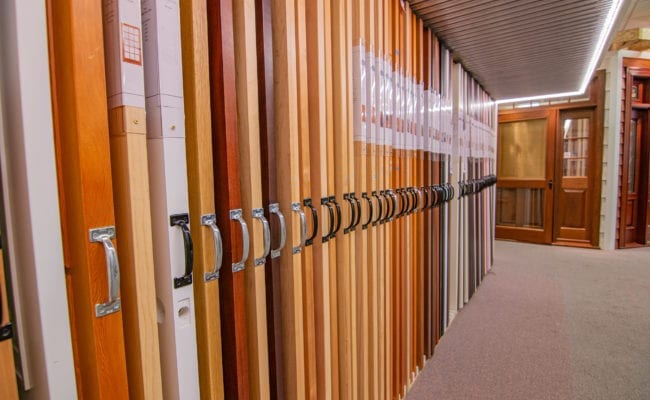 Doors at our showroom