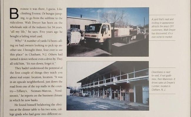 Dreyer's Featured in Building Material Dealer