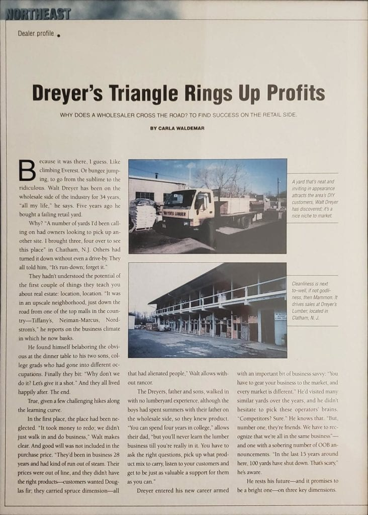 About - Dreyer's Lumber